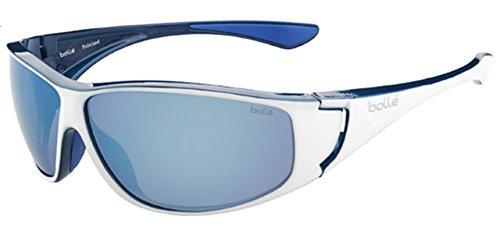 Bollé Highwood Lunettes de soleil Highwood Shiny White/Blue Polarized Offshore Blue