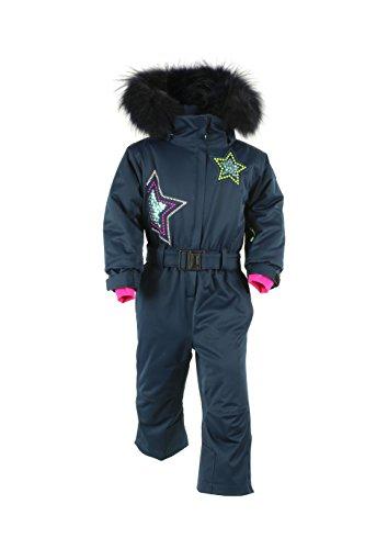 Degré 7 Kid Nieve - Traje de esquí para niña, Nieve, Niñas, Color Azul Oscuro, tamaño FR : XXS (Taille Fabricant : 2)