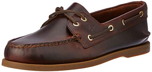 Sperry Authentic Original 2-Eye, Scarpe da Barca Uomo, Marrone (Amaretto), 41.5 M