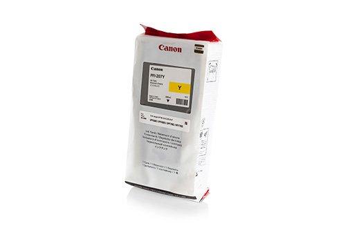 Ipf Serie (Original Canon 8792B001 / PFI-207Y, für imagePROGRAF IPF 680 Series Premium Drucker-Patrone, Gelb, 300 ml)