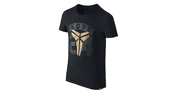 d25342794475 Nike 24 TD Tee Shirt YTH Linie Kobe Bryant für Kind S Schwarz  Amazon.de   Schuhe   Handtaschen