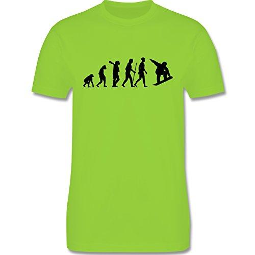 Evolution - Snowboard Evolution - Herren Premium T-Shirt Hellgrün