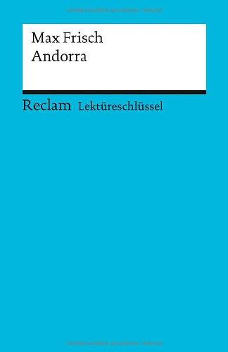 Buchseite und Rezensionen zu 'Max Frisch: Andorra. Lektüreschlüssel' von Olaf Kutzmutz