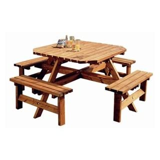 Anchor Fast Octagonal Picnic Bench 8 seater.
