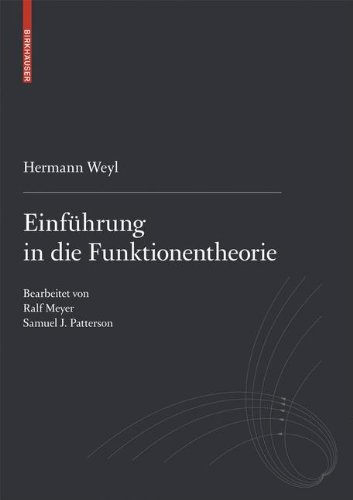 Einführung in die Funktionentheorie (German Edition)