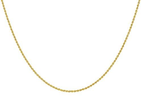 14 Karat / 585 Gold Kordelkette Gelbgold Unisex – 2 mm. Breit – Länge wählbar