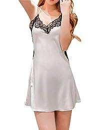 Mitlfuny Mujer Conjuntos de Lencería Pijama Vestido Atractivo Pasión Tirantes Sexy Encaje Cordón Honda Cmiasón +