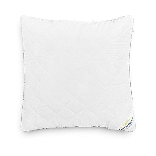 Lumaland deluxe cuscino di alta qualità doppio trapuntato con cerniera 50 x 50 cm imbottitura di 600 g