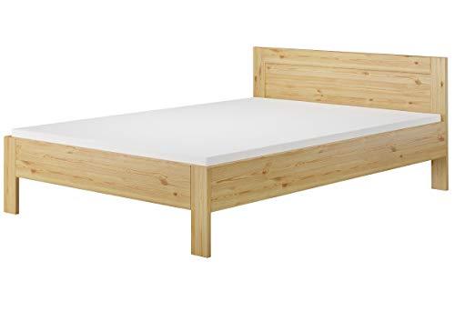 Erst-Holz® Französisches Bett 140x200 Doppelbett Futonbett Kiefer massiv Rollrost Matratze 60.68-14 M