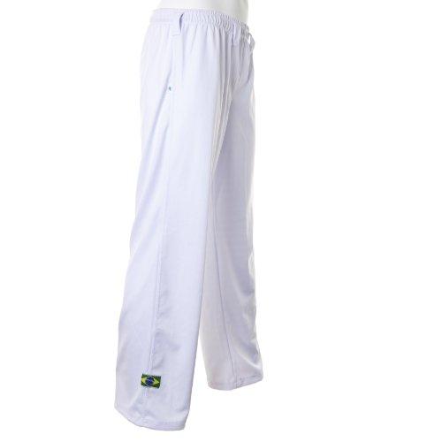 Original de Brasil Capo Eira Pantalones unisex blanco abada Martial Arts elástica Pants., Hombre, color Weiß, tamaño XXL