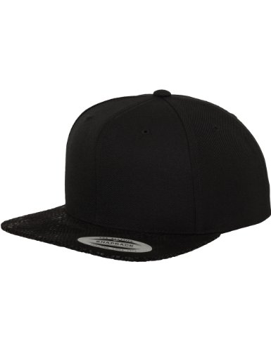 Flexfit Erwachsene Mütze Animal Tone In Tone Snapback, Blk/Cobra, One size, 6089TT (Cobra Baseball)