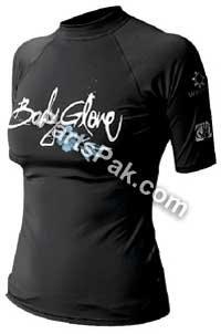 Body Glove 1210wxsxx Basic Damen Short Sleeve Lycra XS Schwarz -