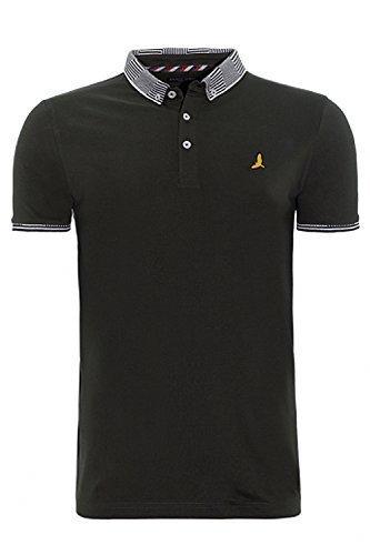 Brave Soul Mens MTS-GloverB Polo Shirt Black - X Large