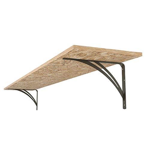 Ve.ca-italy mensola da garage in legno truciolare spessore 2 cm belle e resistenti incluse staffe per carichi pesanti fino a 150kg diverse misure (250 cm x 50 cm)