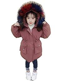 LSHEL Kinder Baumwollmantel Verdickung M/ädchen Baumwollejacke Winterkleidung Wollmantel