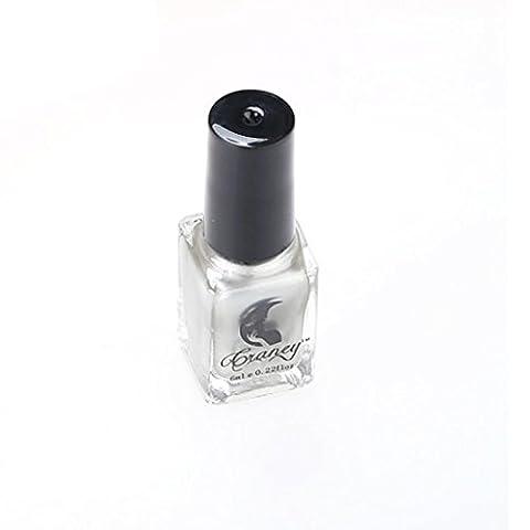 HKFV Für Nail Art Spiegel Nagellack Überzug Silber Paste Metall Farbe Edelstahl Spiegel Silber Nagellack Mehrfarbig (MehrfarbigC)