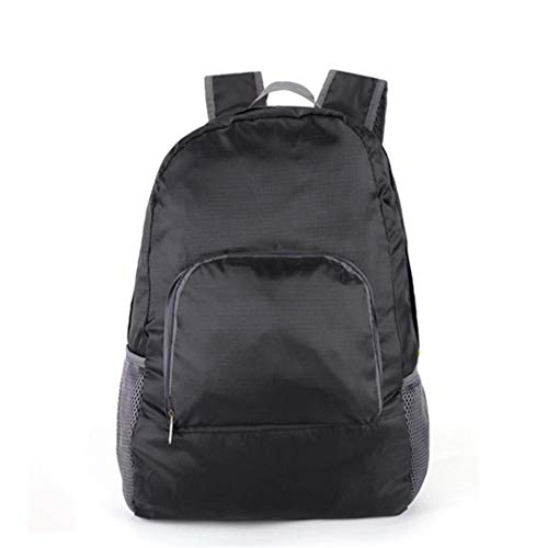 Rucksack Reisetasche Rucksäcke Nylon High Capacity Rucksack Mode für Männer und Frauen Designer Student Bag Zipper Black (Rucksack High Mit Sierra Rädern)