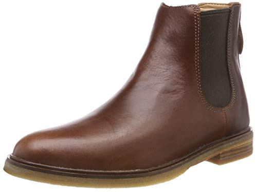Clarks Clarkdale Gobi Leather Boots in Mahogany