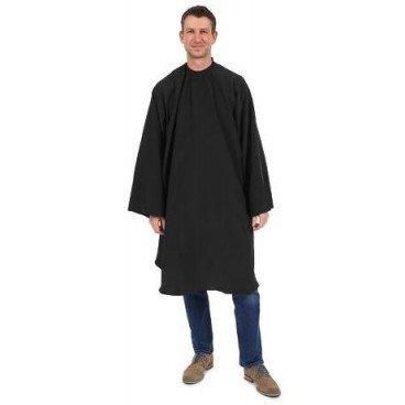 Barburys - Peignoir Homme Fermeture Velcro Noire
