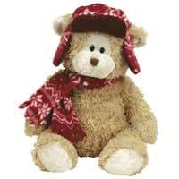 TY ~ Hudson l'hiver ours avec bonnet et écharpe