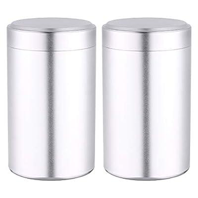 UPKOCH aluminiumtea caddy sucre café cartouches alimentaire épices scellé pot cérémonie du thé accessoires thé café pot de sucre 2pcs