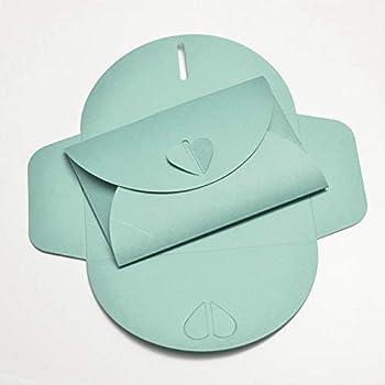 16.5 x 16.5 x 0.1 cm Clairefontaine confezione da pz Verde Acqua 20 Pollen 28493C Buste