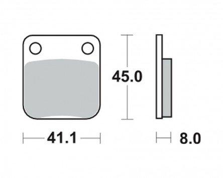 Bremsbeläge TRW MCB 510 für Kreidler 125 Supermoto 07-