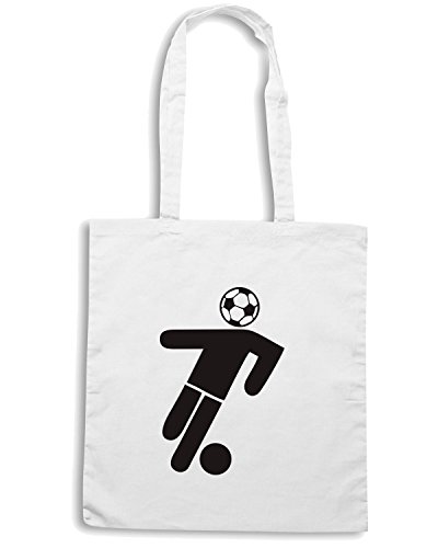 T-Shirtshock - Borsa Shopping WC0558 soccer head Bianco