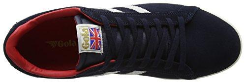Gola Equipe Suede, Scarpe da Ginnastica Basse Uomo Blu (Navy/white/red Ew Blue)
