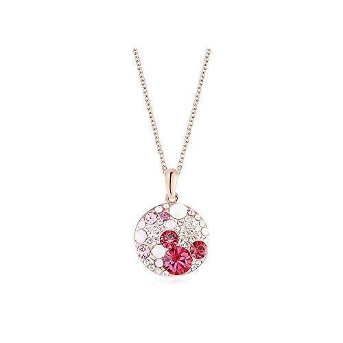 Yparah Royal - Collana, colore: rosa e cristalli Swarovski, donna