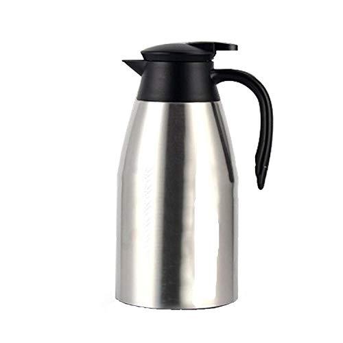 AHLHYJ 2L Vakuum Isolationstopf_304 Edelstahl Isolierte Kanne Europäische Kaffeekanne Haushalt Thermoskanne Service Topf Thermoskanne, True Color