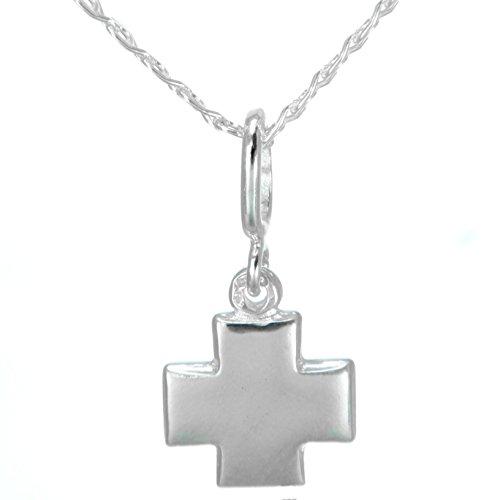 Anhänger Kreuz glänzend Poliert echt 925 Silber#490