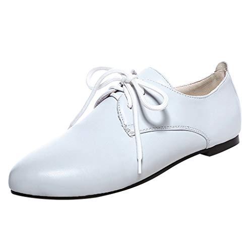 B-commerce Mode Frauen Schnürschuhe Flache Schuhe Große Einzelne Schuhe Wilde Damen Schuhe Einfarbig Freizeitschuhe -