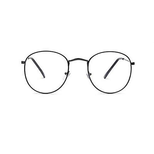 VIWIV Unisex Gold Classic Fashion Brillengestell Metall Männer Frauen Vintage Classic Style Optische Gläser Zum Lesen,3