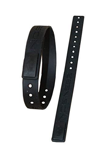 logie - Armband mit Body Chip - Neutralisierer Harmonisierer - EMF Protection - Abschirmer Strahlenschutz - Elektrosmog Erdstrahlen Handy - (Größe L, schwarz - schwarz) ()