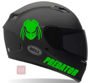 ISEE 360® Yamaha Stickers for Bike Helmet R15 V3 Predator Green Decals L x H 15 x 15 and 20 x 2.5 Cms (Pack of 2)
