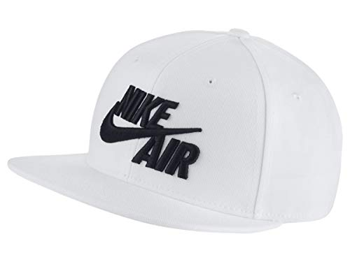 Nk Air (Nike Kinder Y NK PRO Cap AIR 5 Hat, White/Black, One Size)