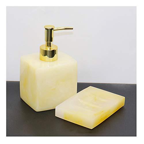 Nachfüllbare Seifenspender - Hotel Händedesinfektionsmittel Flasche Pumpe Seifenspender Duschgel Shampoo Flasche leere Flasche Haushalt Seifenschale Seifenkiste Set-Jade