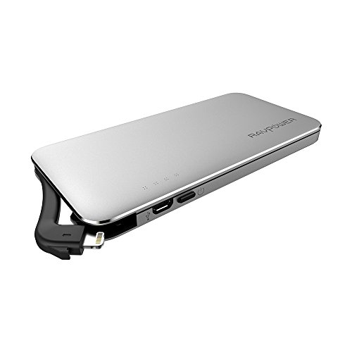 RAVPower Flash Drive iPhone da 64GB 3 in 1, Caricatore Portatile con Supporto per Carte SD (Connettore Lightning, Compatibile con iPhone & iPad, Powerbank da 5000mAh, Backup Istantaneo e Salvataggio Diretto dei File)