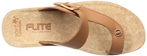 Flite PU Women's Tan Flip-Flops-5 UK (38 EU) (PUL082L_TNTN0005)