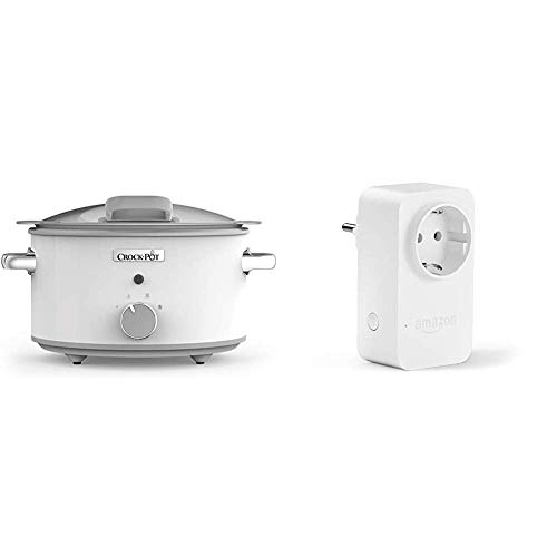 Crock-Pot DuraCeramic CSC038X Olla de cocción lenta manual 4,5 l, Acero Inoxidable,...