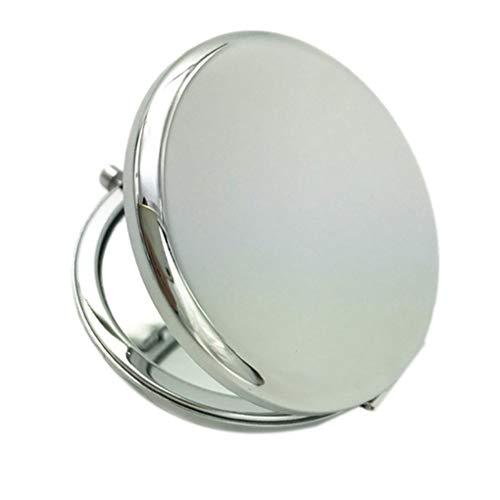 Bomcomi Make-up-Spiegel Solid Color Metall Runde Double-Side Pop-Up-beweglicher Taschen-Spiegel Schönheit Zubehör -