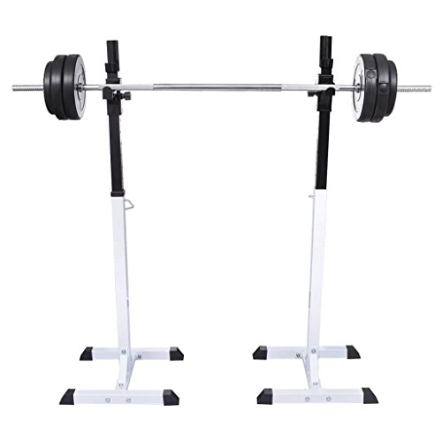 Vidaxl set supporti squat per esercizi manubri body building pesi per fitness