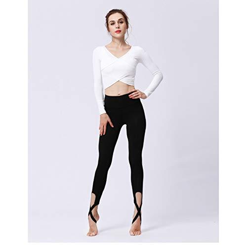 YOGOAOO Frauen Ballerina Yoga Hosen Verband Cropped Leggings Sport Dance Engen Leggings Fitness Kreuz Hosen Laufen Yoga Hosen - Ausgestellte Dance Hose