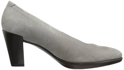 Ecco Shape 55 Plateau Stack, Scarpe con Tacco Donna Grigio (Warm Grey)