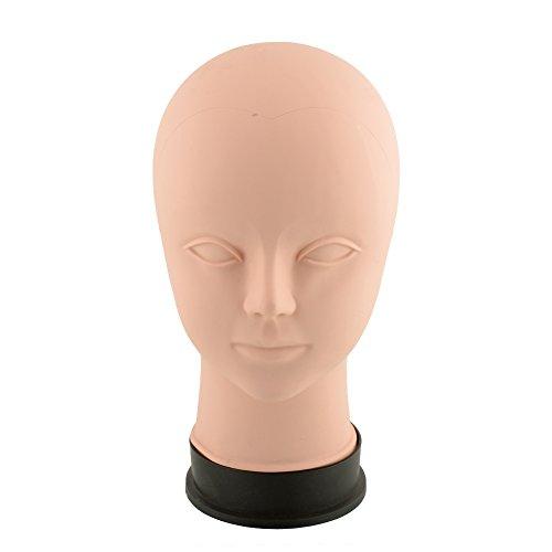 (Beautyrain Weiblicher Berufskosmetologie-Kahler Mannequin-Kopf für die Herstellung von Perücken, Perücken, Gläser, Haar 55cm)