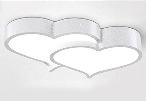 Jingzou Moderne minimaliste led chaud Romance lampe de chambre Art salle de mariage Creative Coeur Plafond 40*50CM