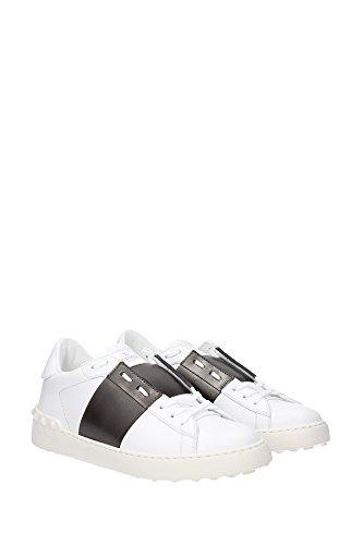 LY0S0830FLRR48 Valentino Garavani Sneakers Homme Cuir Blanc Blanc