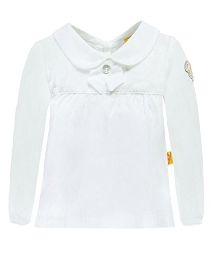 Steiff Baby-Mädchen Bluse 1/1 Arm, Weiß (Bright White 1000), 68