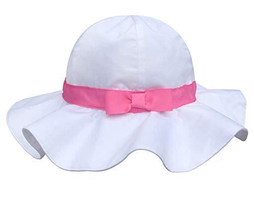 Pormow Frühjahr/Sommer Baumwolle Baby Mädchen Bowknot Sonnenhut/Beach Hut/Outdoor Hut (53cm/5-7y, Rosa)